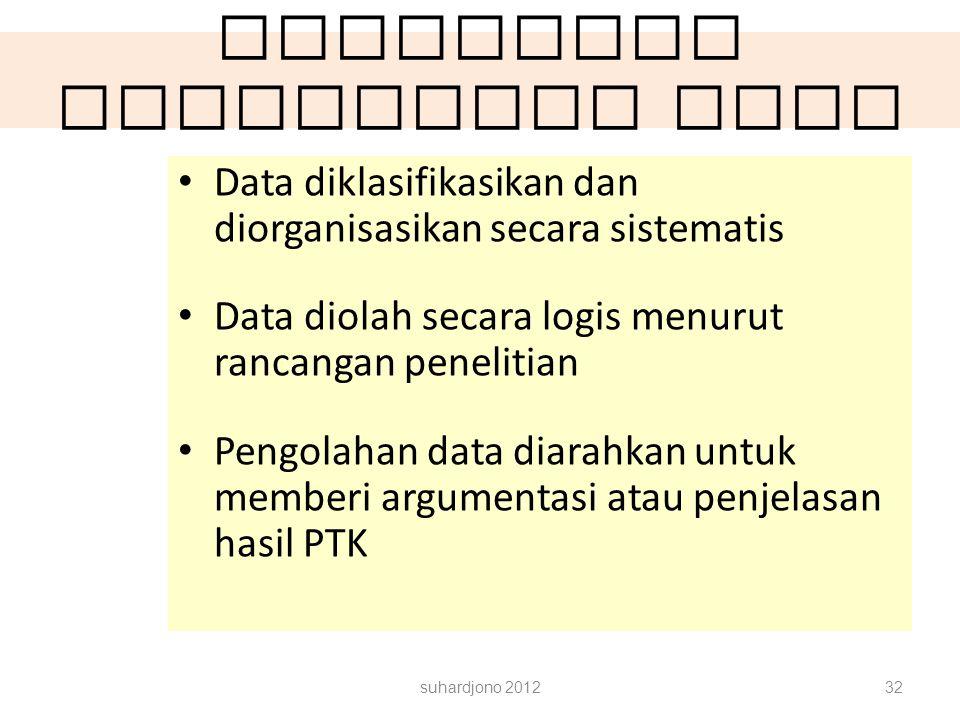 Rancangan Pengolahan data