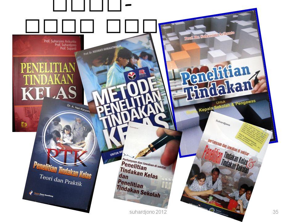 Buku-buku PTK suhardjono 2012
