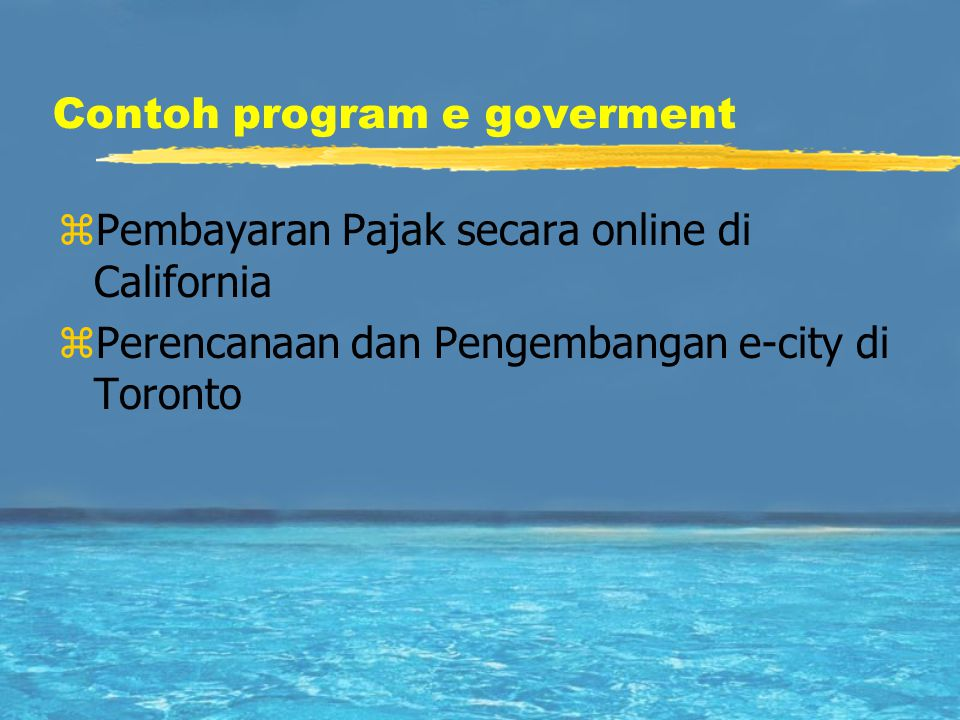 Contoh program e goverment