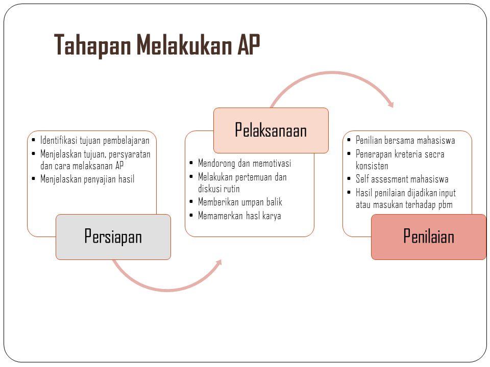 Tahapan Melakukan AP Persiapan Pelaksanaan Penilaian