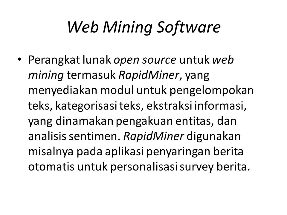 Web Mining Software