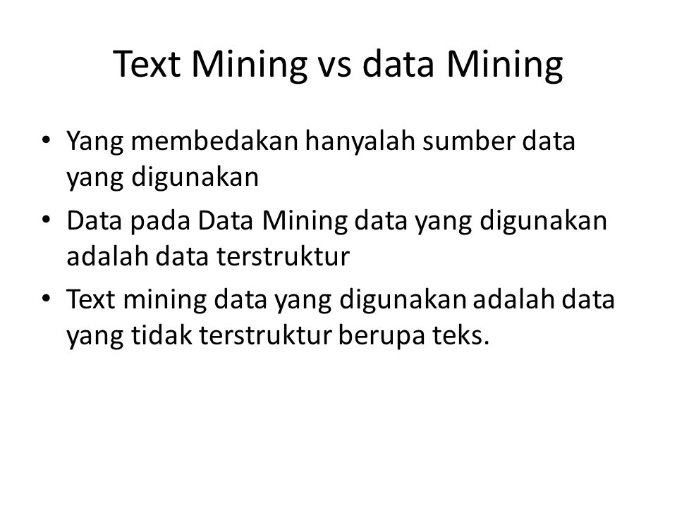 Text Mining vs data Mining