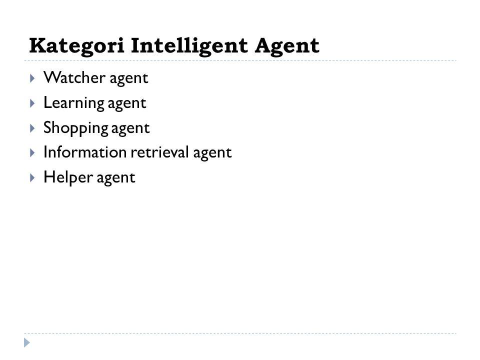 Kategori Intelligent Agent