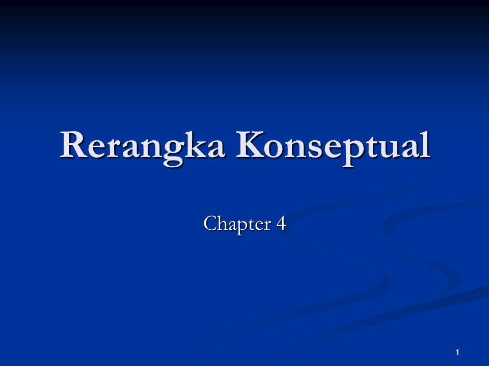 Rerangka Konseptual Chapter 4