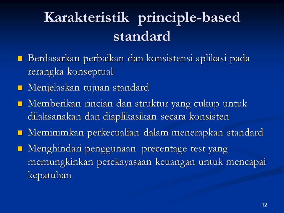 Karakteristik principle-based standard