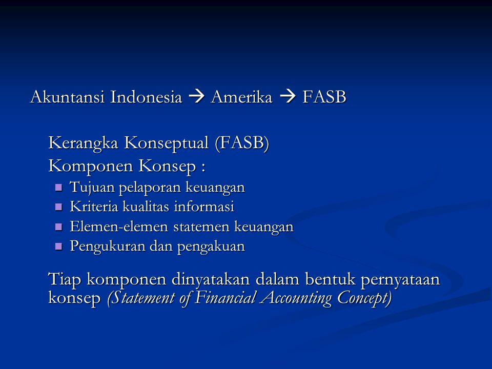 Akuntansi Indonesia  Amerika  FASB Kerangka Konseptual (FASB)