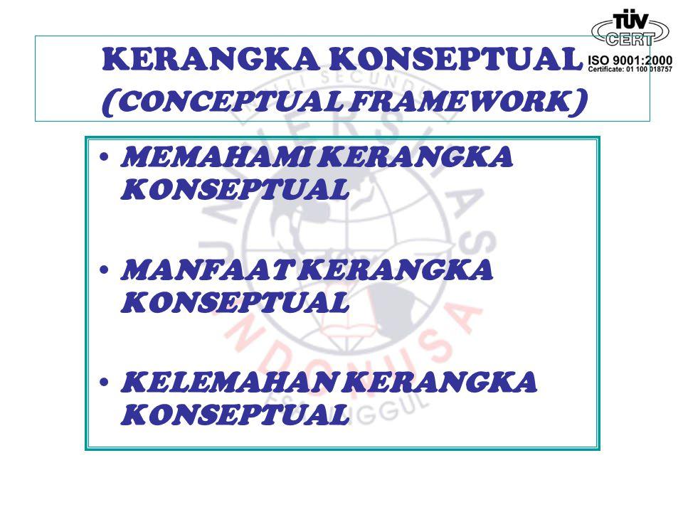 KERANGKA KONSEPTUAL (CONCEPTUAL FRAMEWORK)
