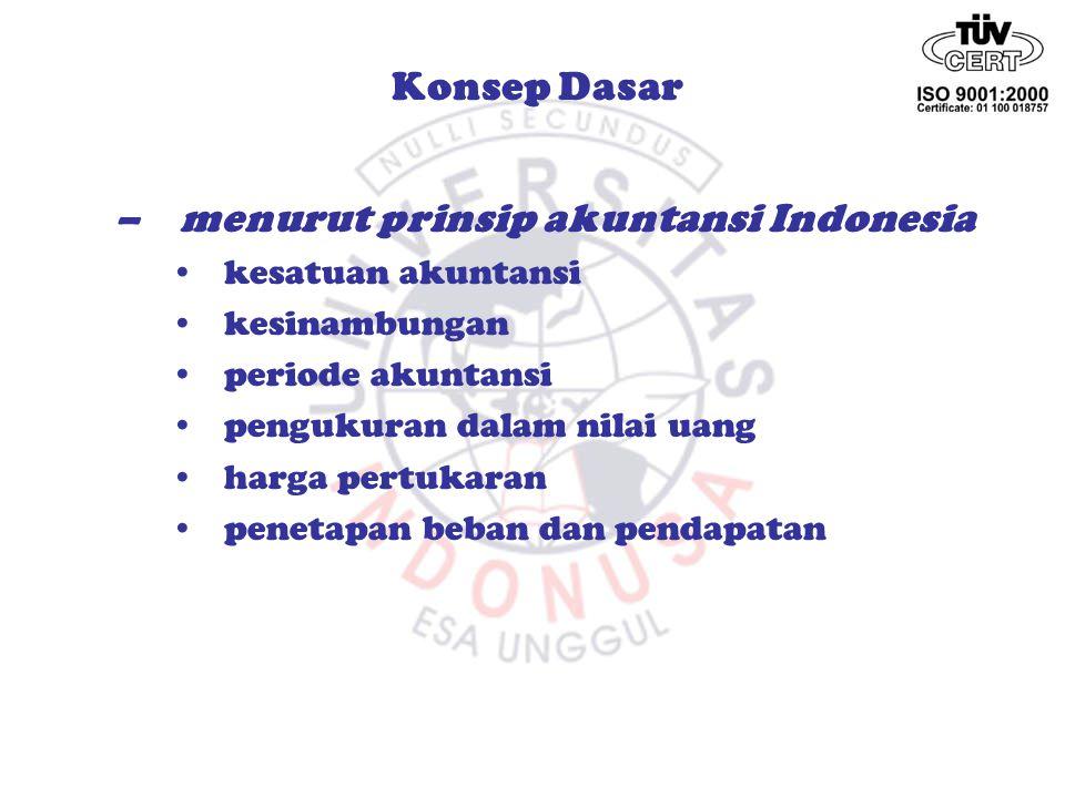 menurut prinsip akuntansi Indonesia