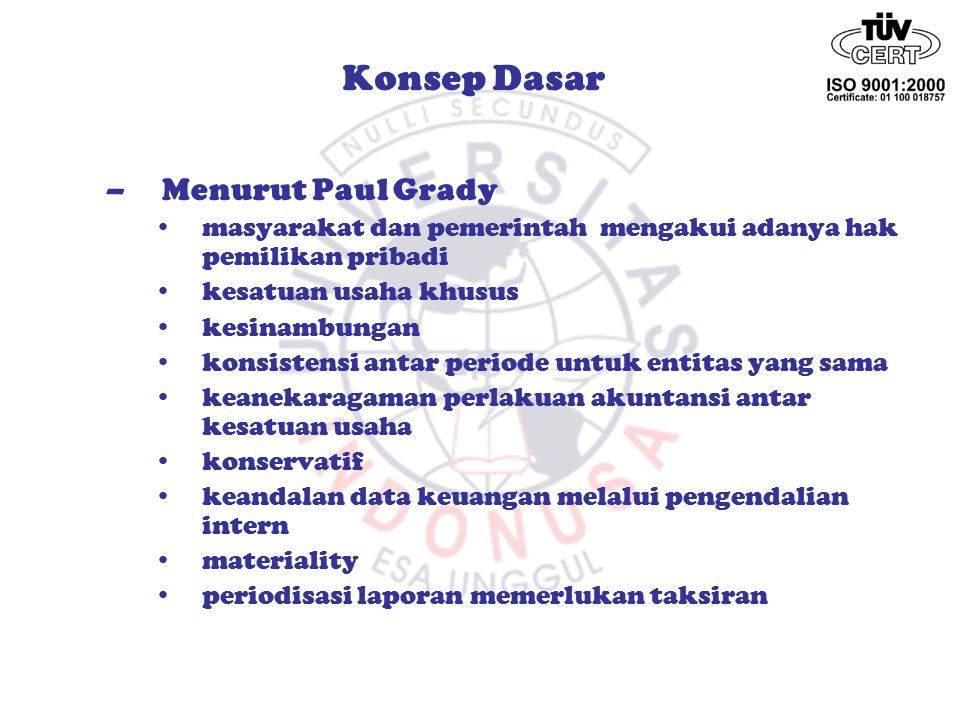 Konsep Dasar Menurut Paul Grady