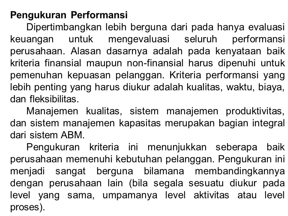 Pengukuran Performansi