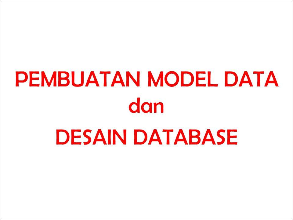 PEMBUATAN MODEL DATA dan DESAIN DATABASE