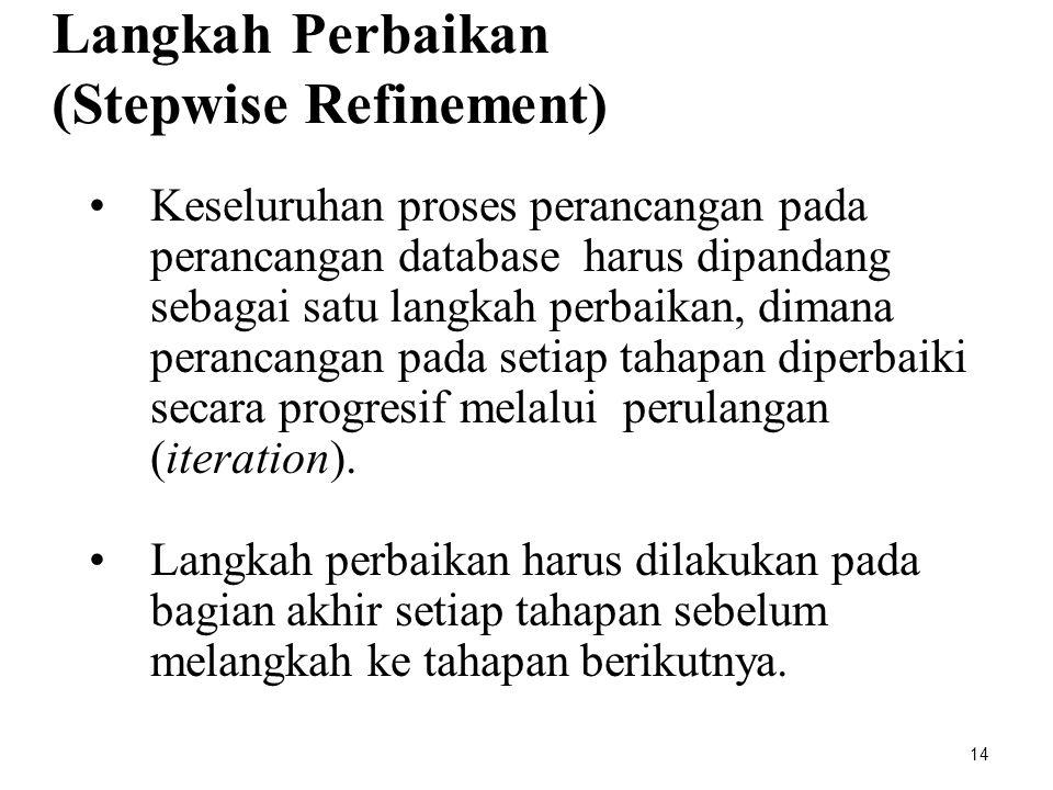 Langkah Perbaikan (Stepwise Refinement)