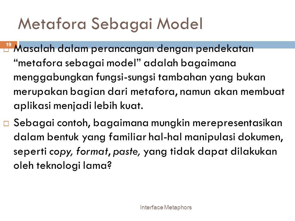 Metafora Sebagai Model