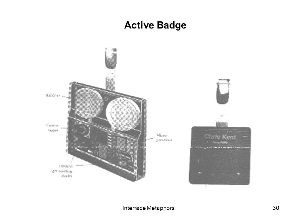 Active Badge Interface Metaphors