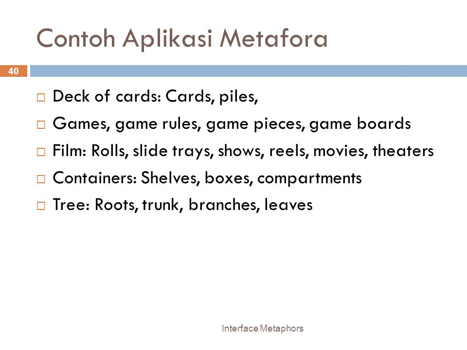 Contoh Aplikasi Metafora