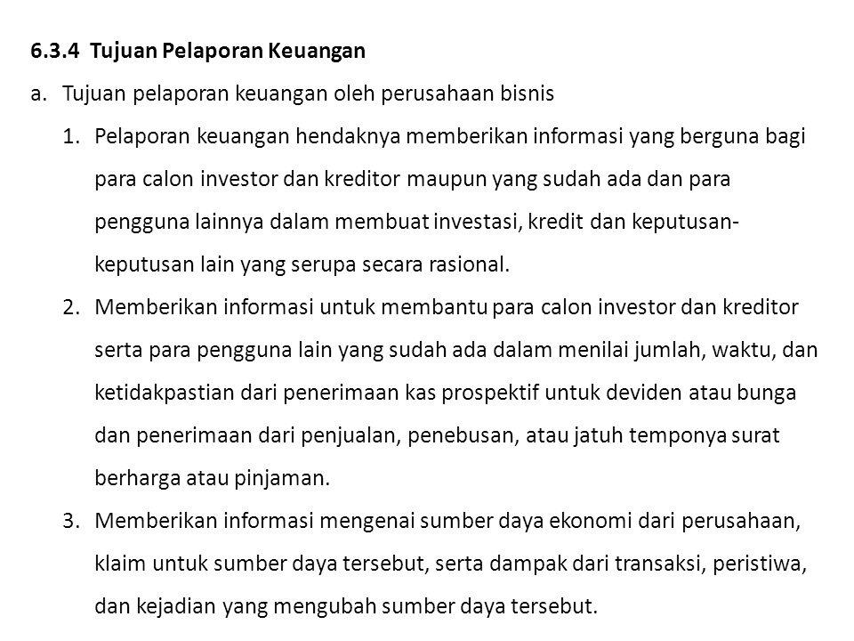 6.3.4 Tujuan Pelaporan Keuangan