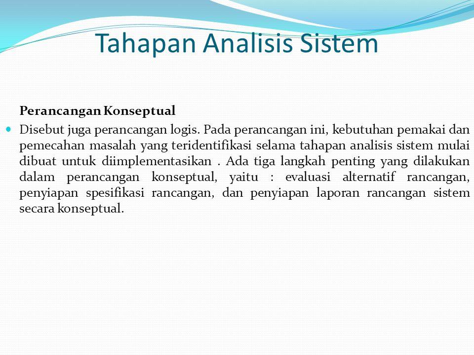 Tahapan Analisis Sistem
