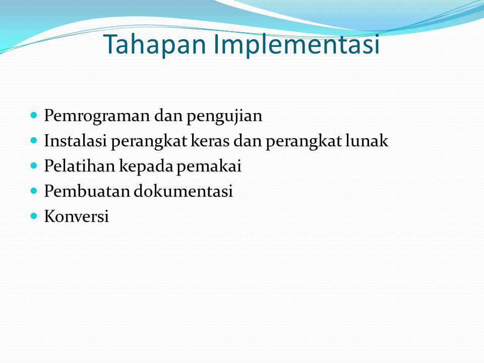 Tahapan Implementasi Pemrograman dan pengujian