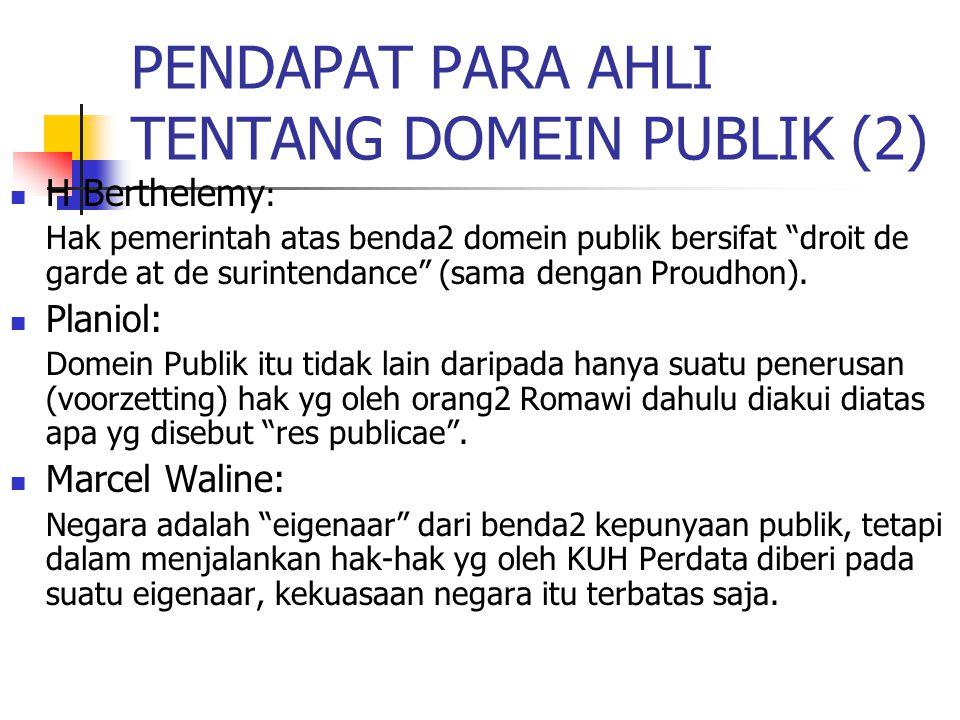 PENDAPAT PARA AHLI TENTANG DOMEIN PUBLIK (2)
