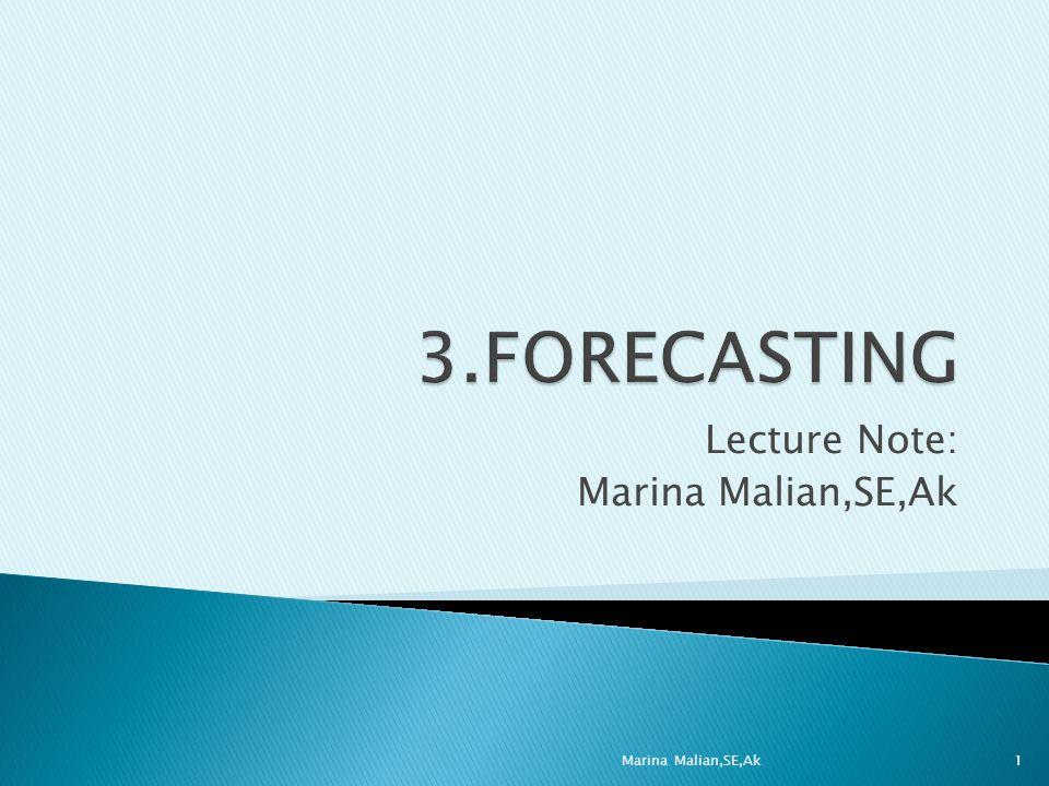Lecture Note: Marina Malian,SE,Ak