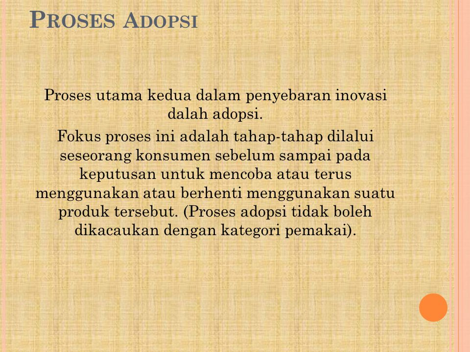Proses Adopsi