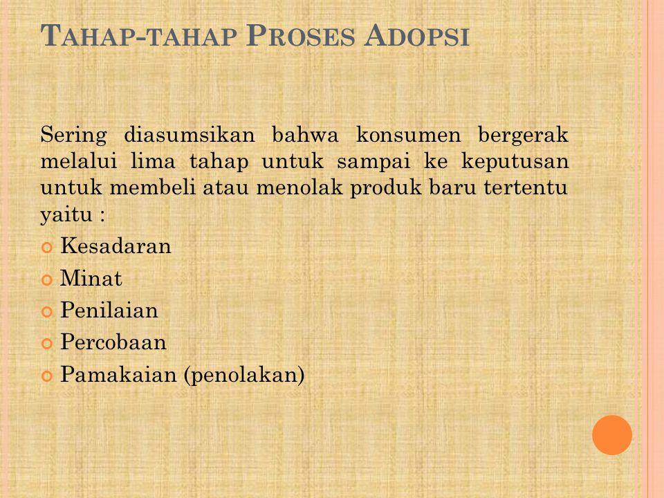 Tahap-tahap Proses Adopsi