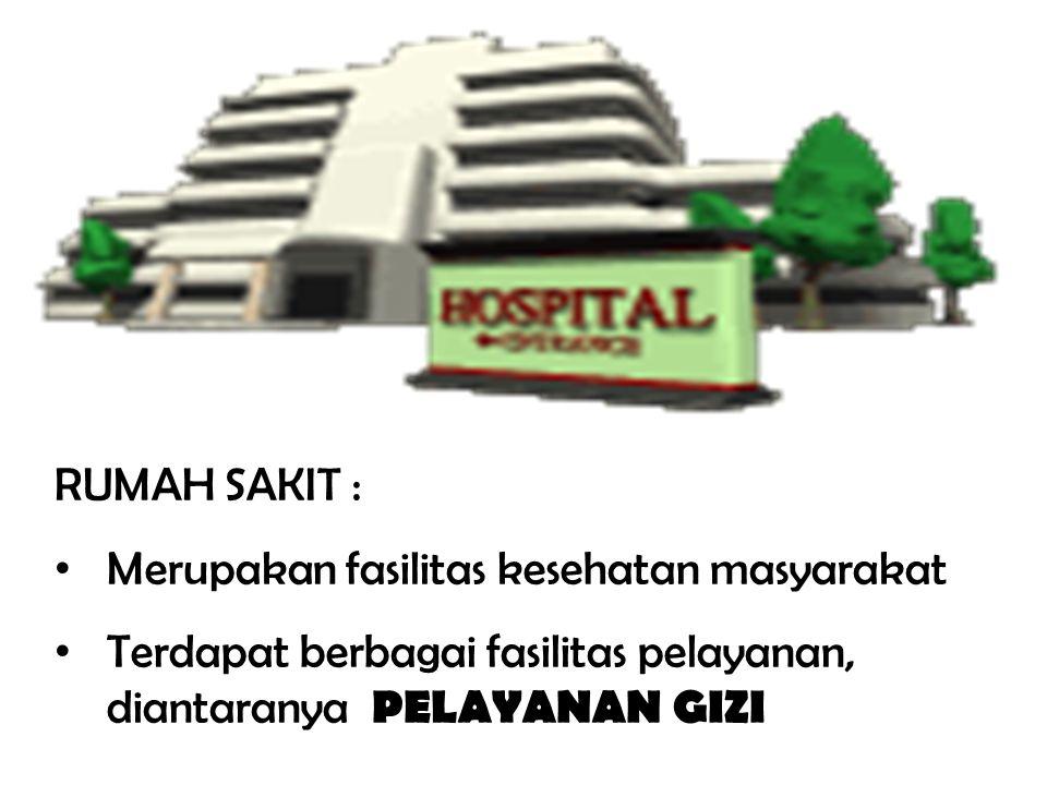 RUMAH SAKIT : Merupakan fasilitas kesehatan masyarakat.