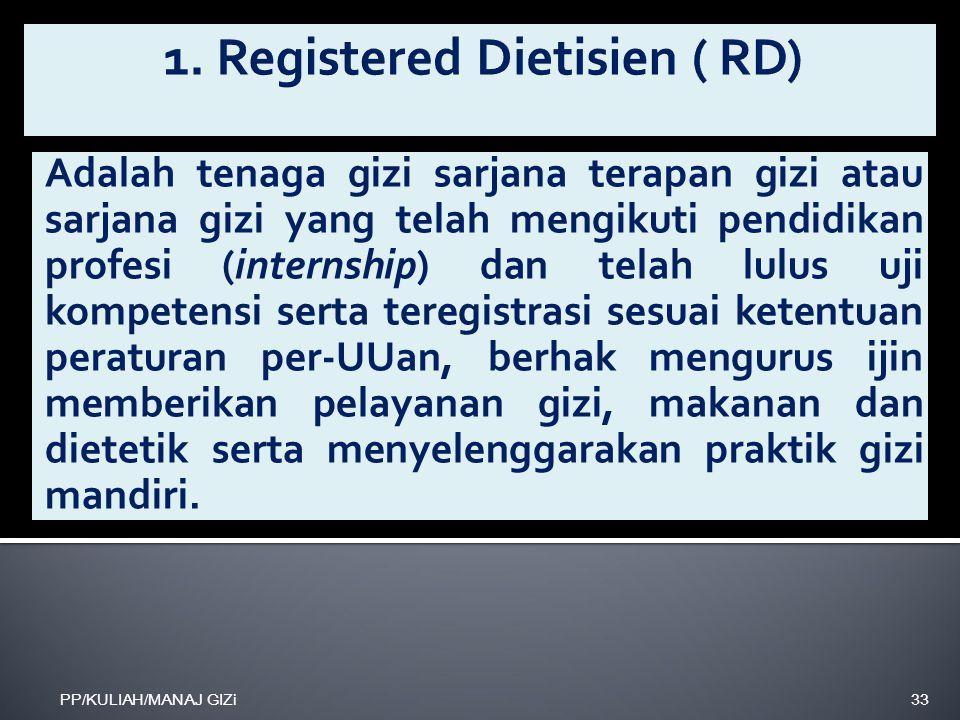 1. Registered Dietisien ( RD)