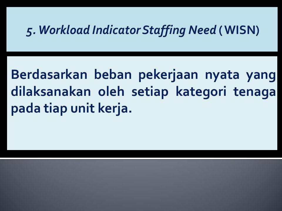 5. Workload Indicator Staffing Need ( WISN)