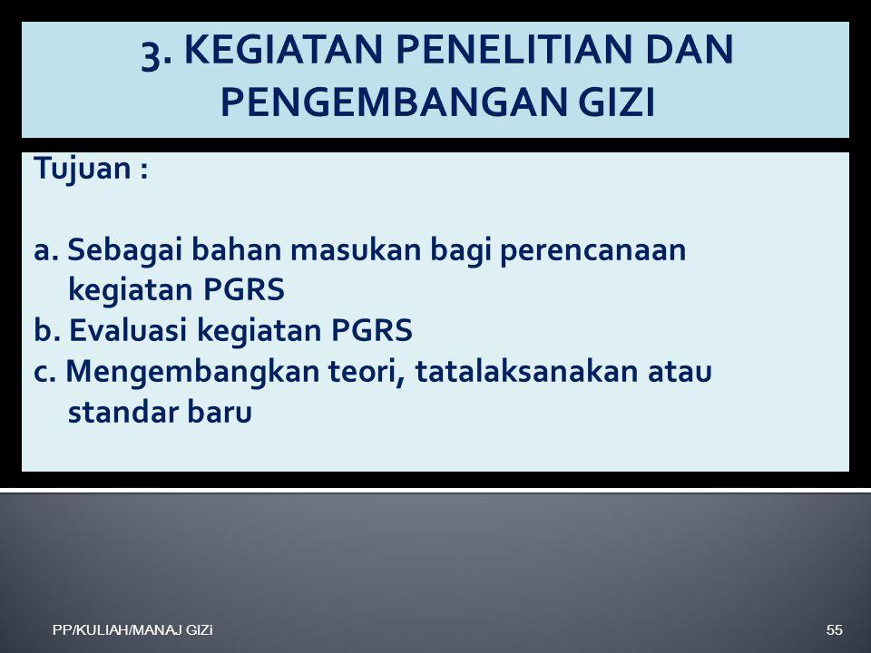 3. KEGIATAN PENELITIAN DAN PENGEMBANGAN GIZI