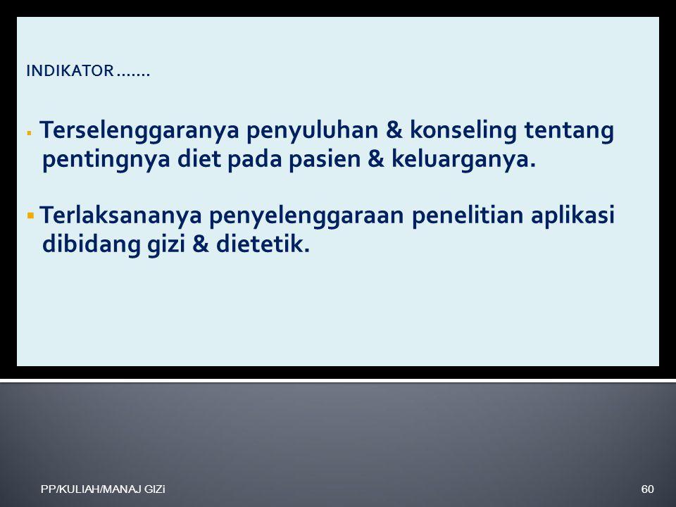 pentingnya diet pada pasien & keluarganya.