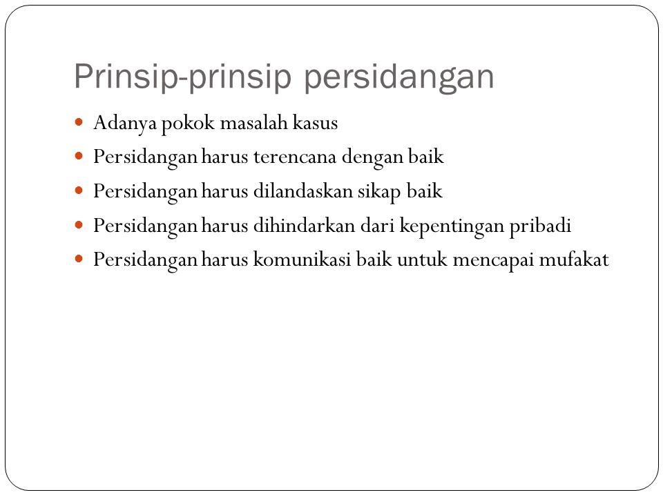 Prinsip-prinsip persidangan