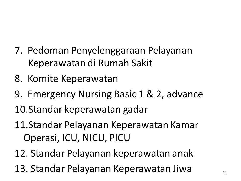 7. Pedoman Penyelenggaraan Pelayanan Keperawatan di Rumah Sakit 8