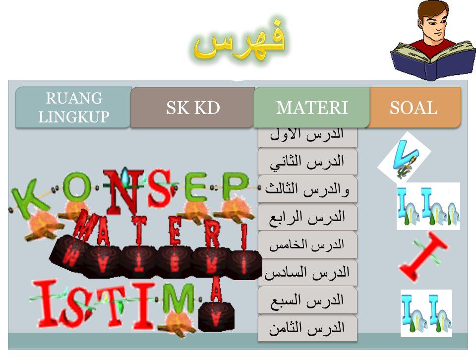 فهرس SK KD MATERI SOAL الدرس الأول الدرس الثاني والدرس الثالث