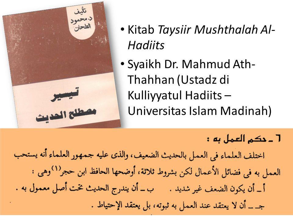 Kitab Taysiir Mushthalah Al-Hadiits