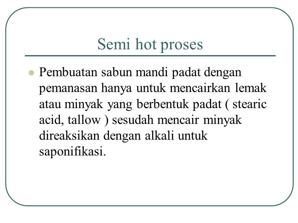 Semi hot proses
