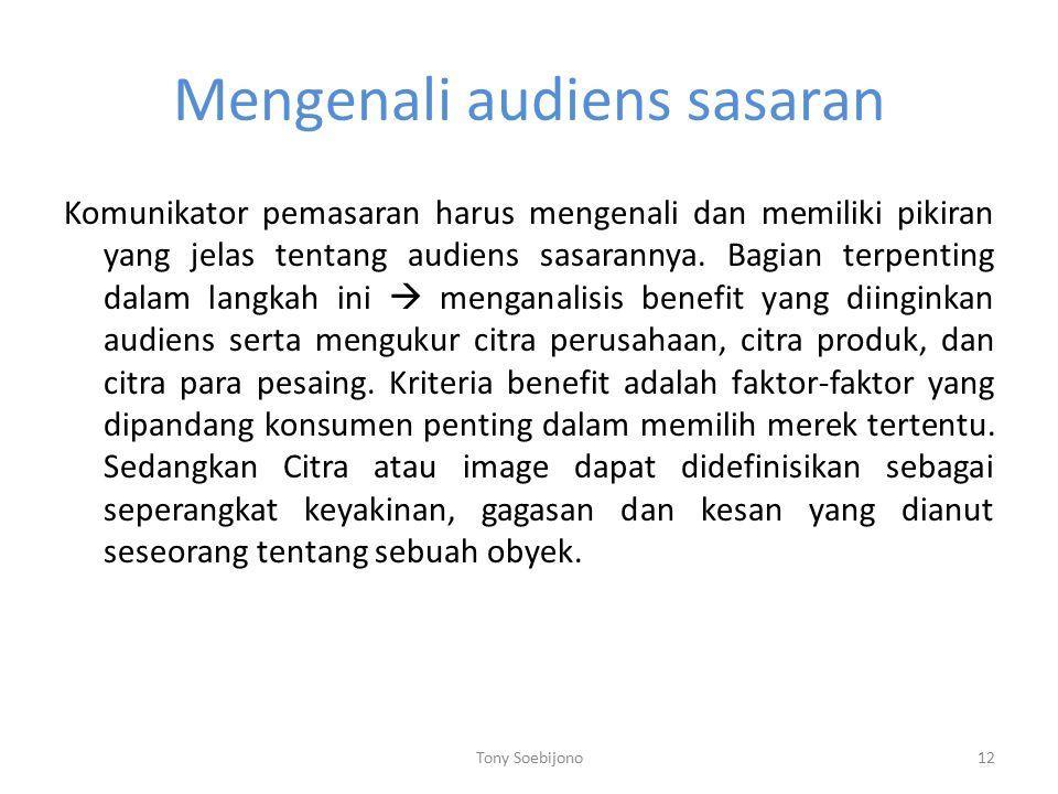 Mengenali audiens sasaran