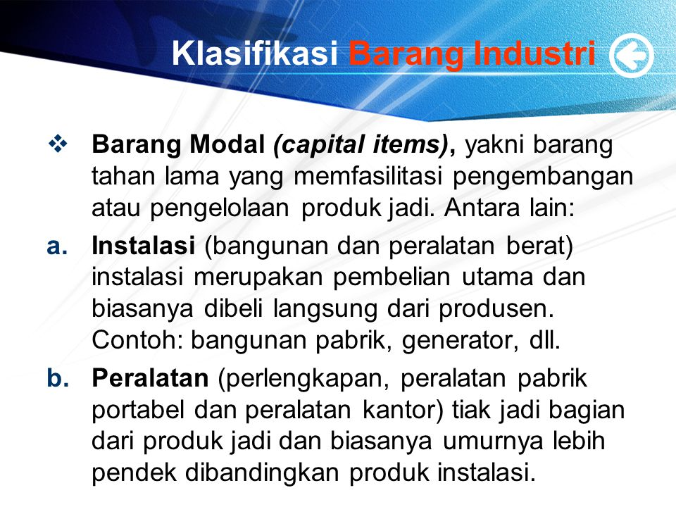 Klasifikasi Barang Industri