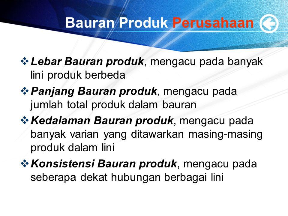 Bauran Produk Perusahaan