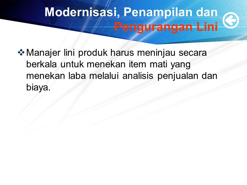 Modernisasi, Penampilan dan Pengurangan Lini