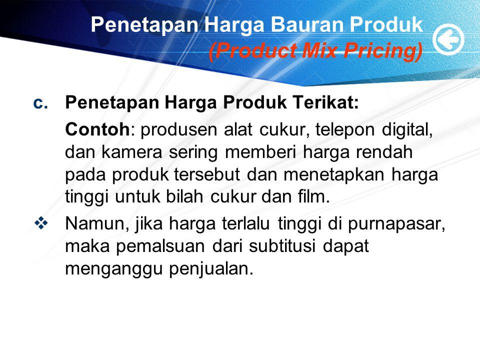 Penetapan Harga Bauran Produk (Product Mix Pricing)