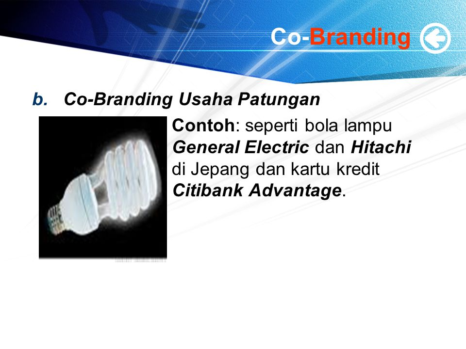 Co-Branding Co-Branding Usaha Patungan