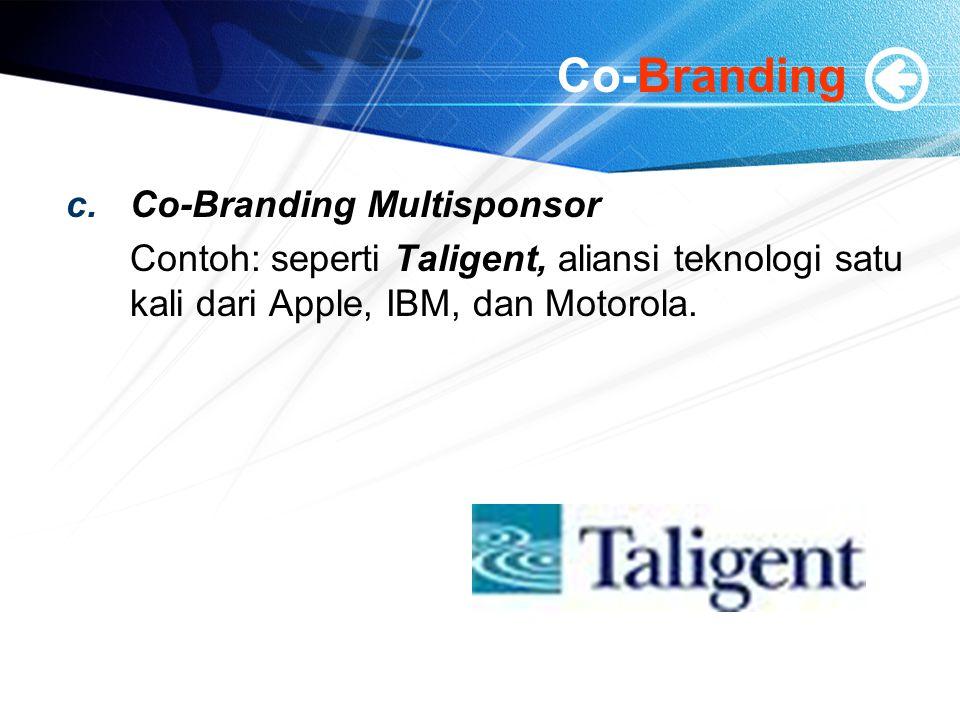 Co-Branding Co-Branding Multisponsor