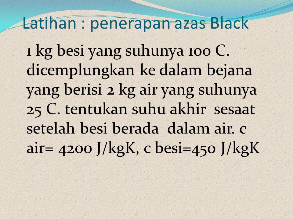 Latihan : penerapan azas Black