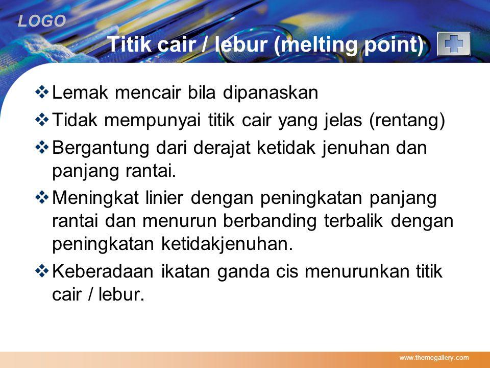 Titik cair / lebur (melting point)