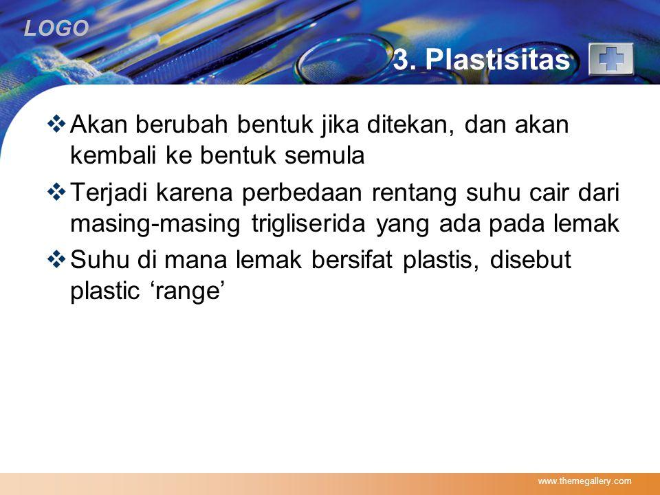 3. Plastisitas Akan berubah bentuk jika ditekan, dan akan kembali ke bentuk semula.