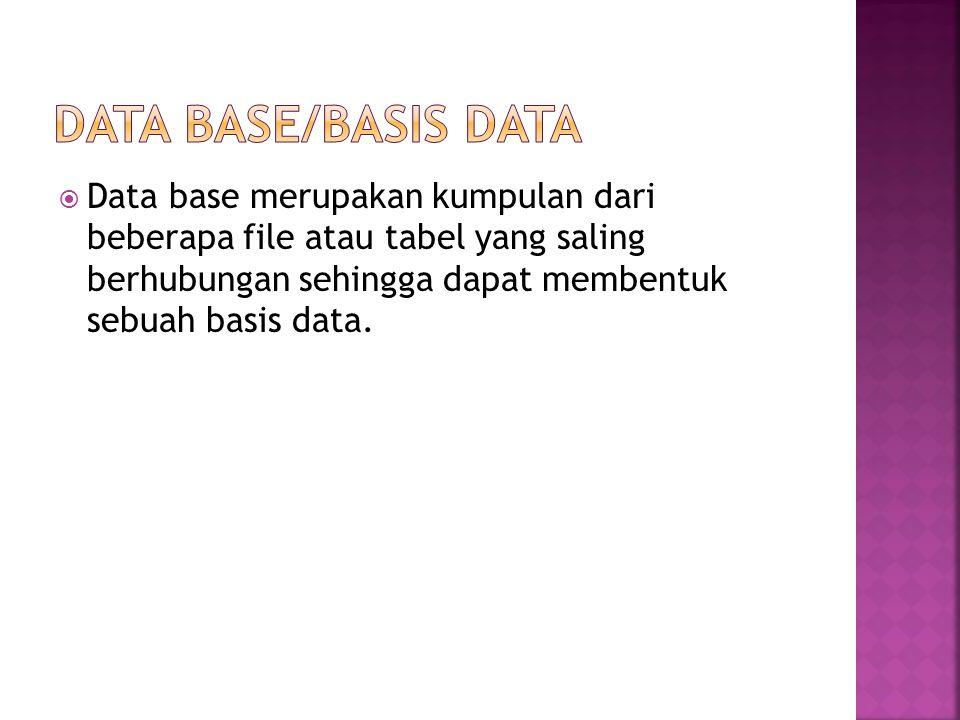 Data Base/Basis Data