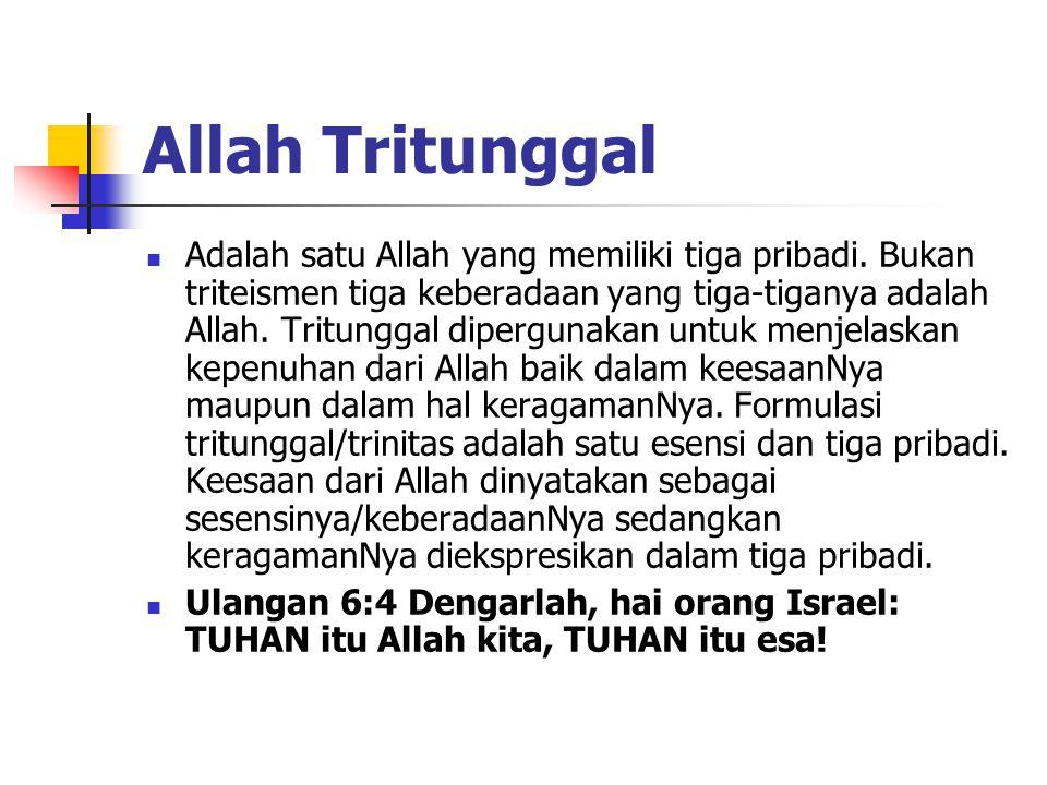 Allah Tritunggal