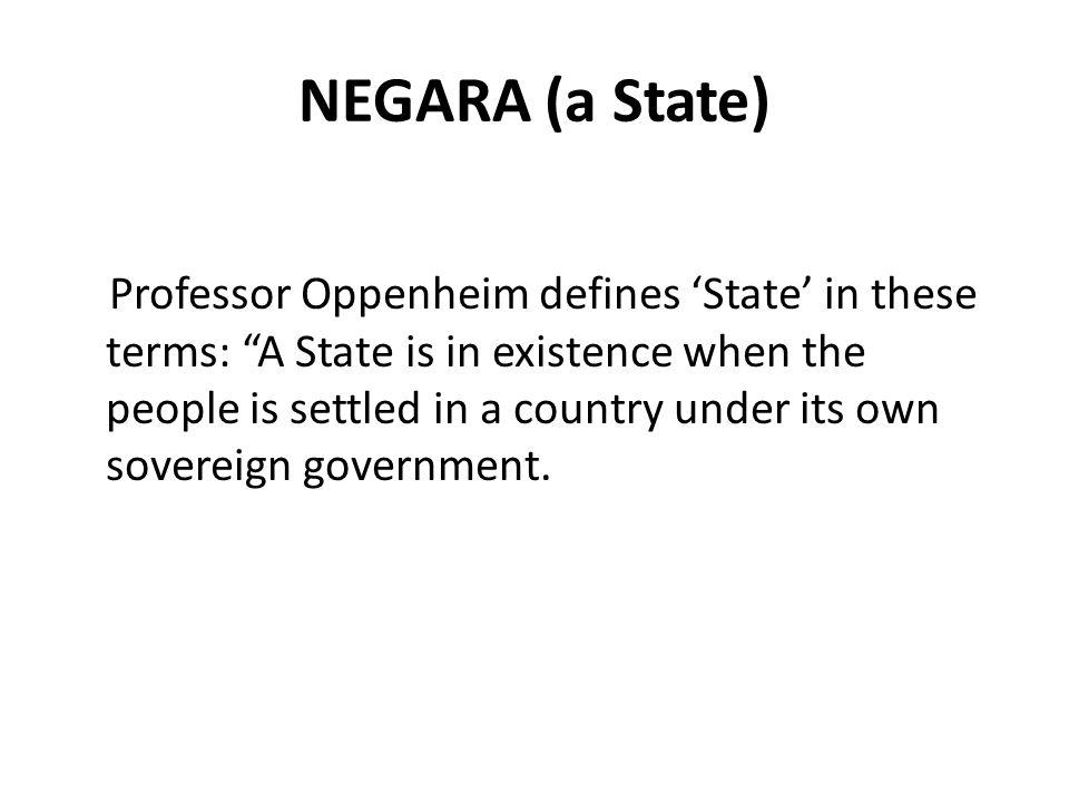 NEGARA (a State)