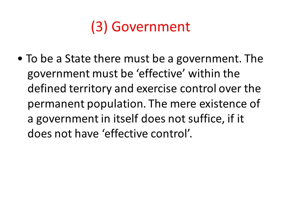 (3) Government
